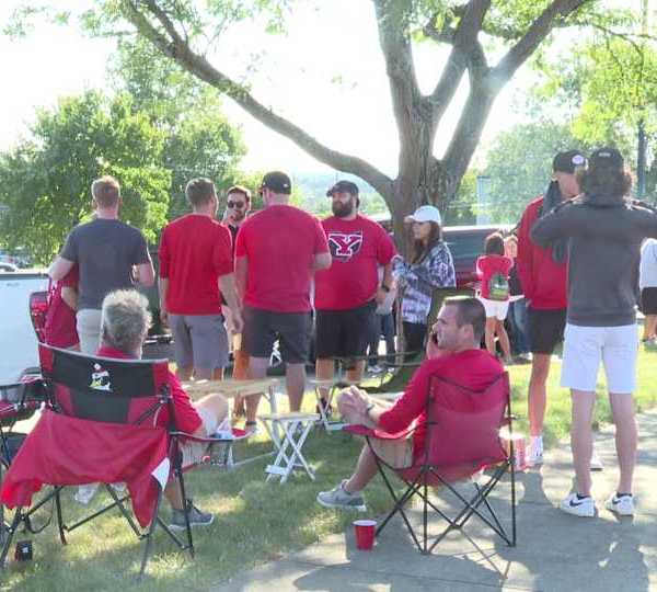 YSU football tailgating for home opener.