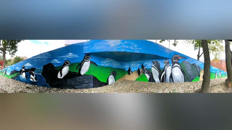 YSU Penguin Mural