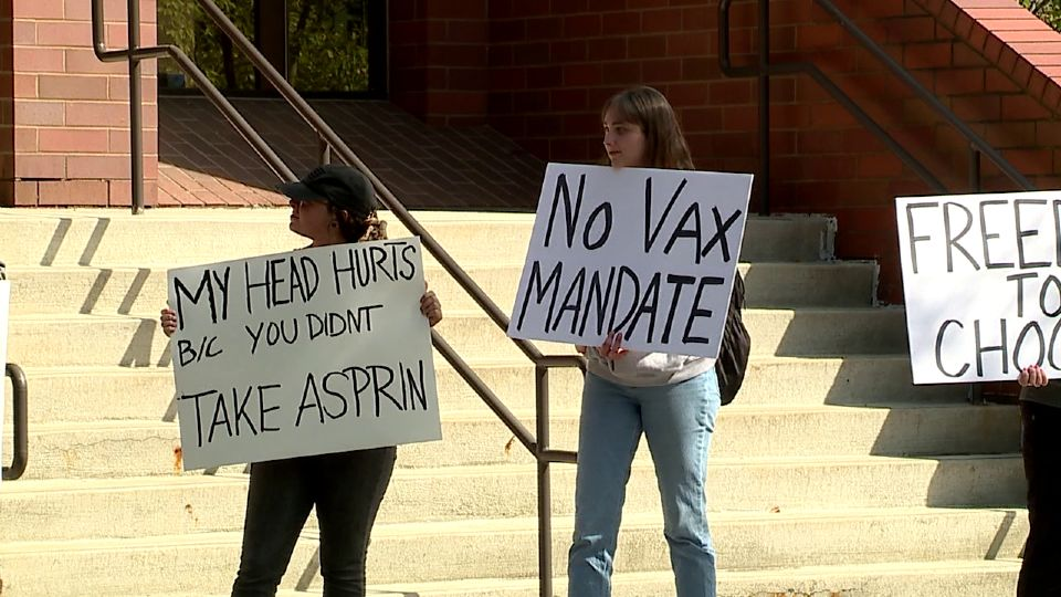 As politicians debate mandating vaccinations against COVID, 19, a group of students and faculty at Youngstown State University want people to have a choice in the matter.