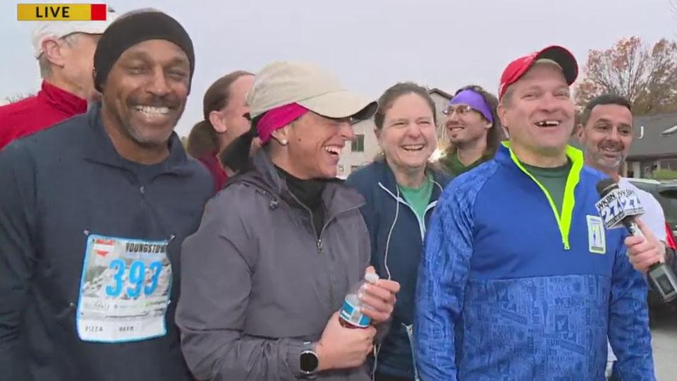 Youngstown Marathon runners