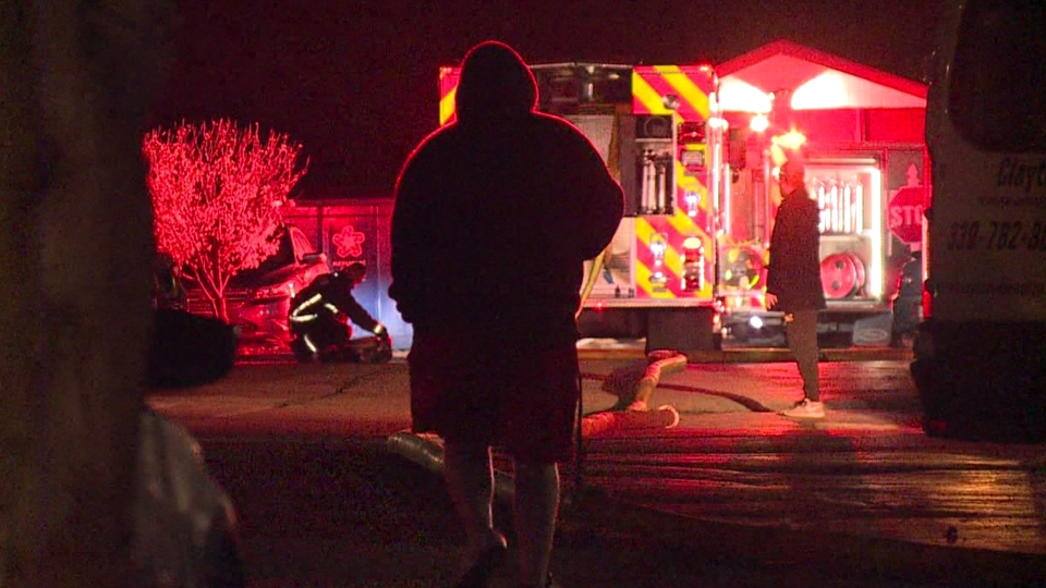 The Austintown Fire Department battled a house fire at the 2000 block of Greenbrier Village on South Raccoon Road just after 9 p.m. Sunday.