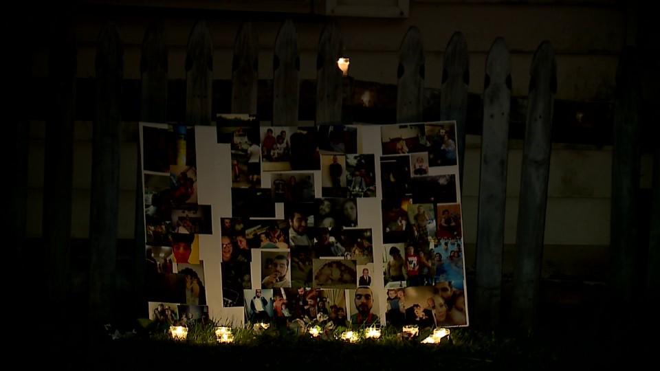 Brandon Leonelli vigil in Youngstown