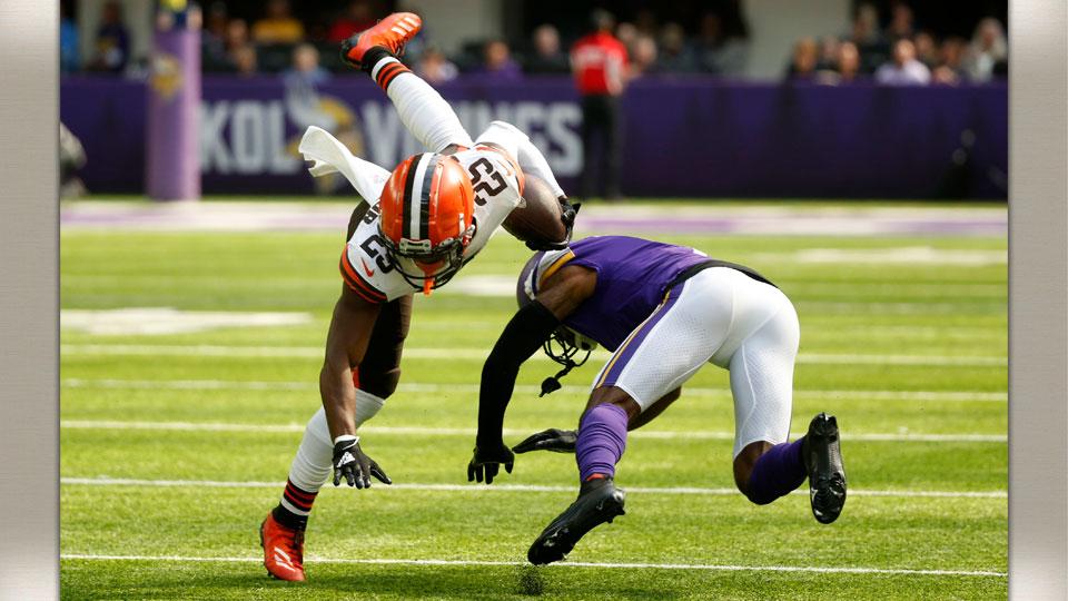 Browns and Vikings football