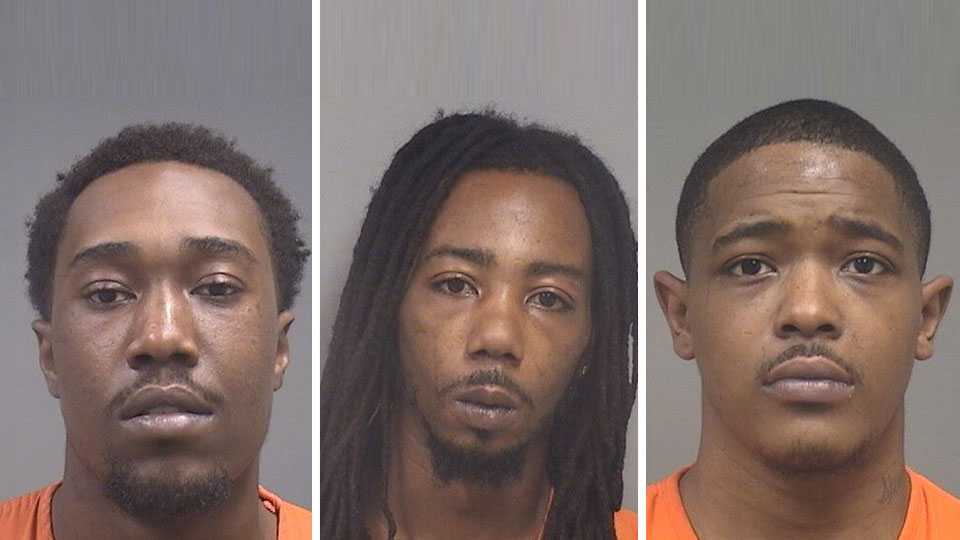 Jerome Tubbs, Tramain Thigpen, Travon Robinson, weapons charges youngstown