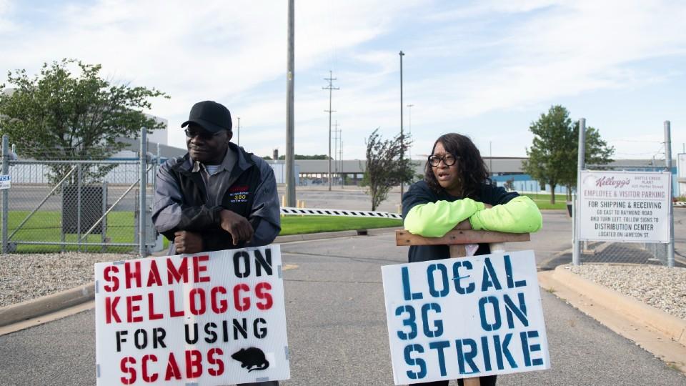 Kelloggs strike in Michigan