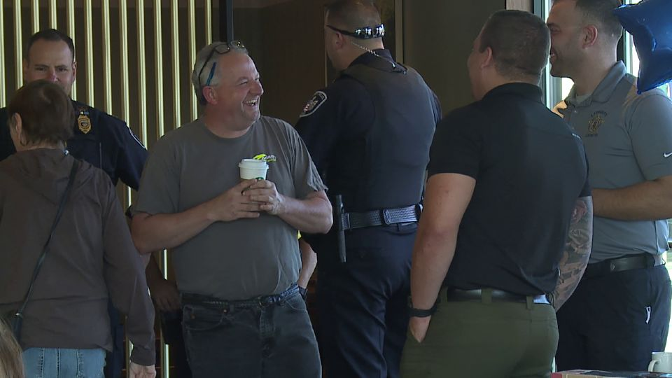 Folks in Liberty had the opportunity to grab a cup of coffee with the township's police officers Wednesday.