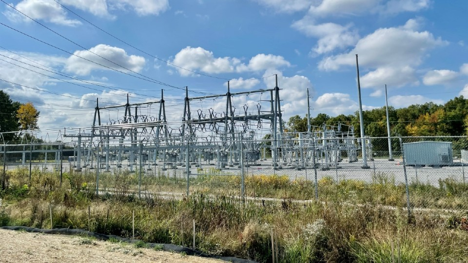 Lordstown power line construction