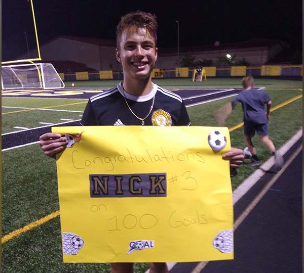 Nick Novak tied Crestview's single season goals record with 42, held by Greg Bable.