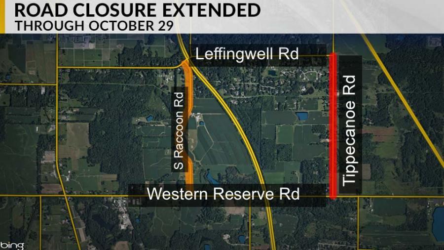 Tippecanoe Road Closure Map
