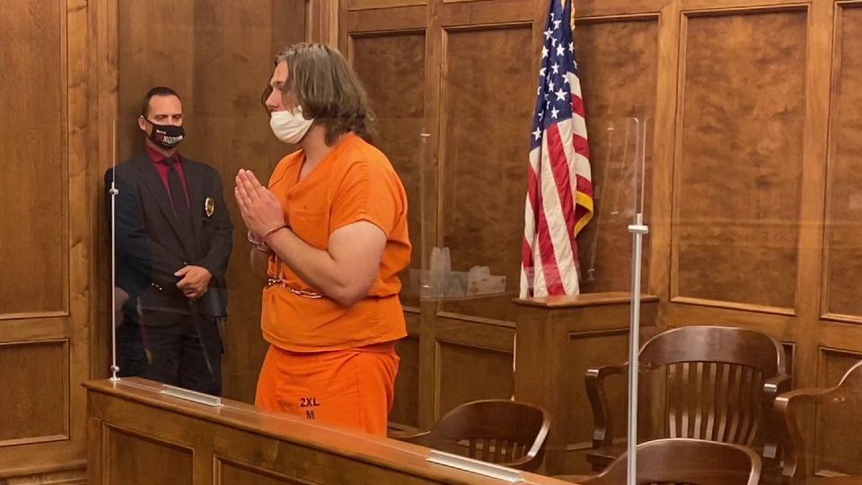 The suspect in the vandalism of a Smoky Hollow church earlier this year waived his preliminary hearing Thursday in that case and pleaded guilty to misdemeanors in two other cases.
