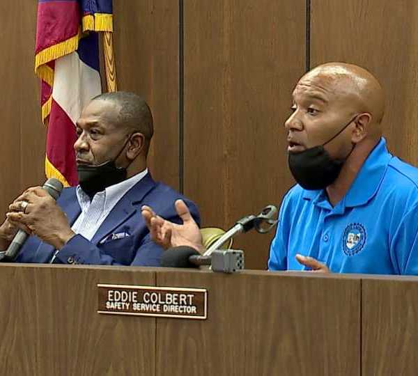 Frustrations over flooding problems in Warren turned into a shouting match at a meeting Tuesday evening.